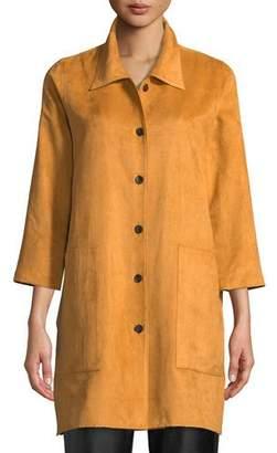 Caroline Rose Modern Faux-Suede Shirt, Plus Size