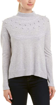 Qi Cropped Cable Cashmere Sweater