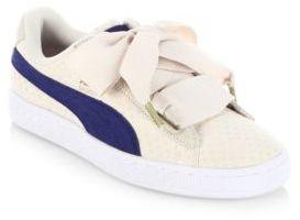 PUMA Basket Heart Denim Sneakers $80 thestylecure.com
