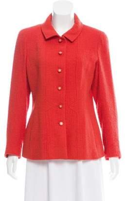 Chanel Wool Jacket Red Wool Jacket