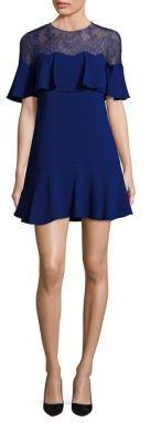 BCBGMAXAZRIA Rosy Lace Yoke Ruffle Dress $298 thestylecure.com