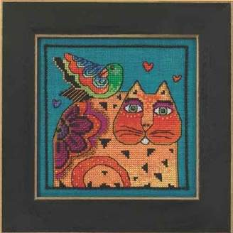 Laurèl Burch Feathered Friends On Aida Counted Cross Stitch -5x5 14 Count by Mill Hill