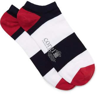 Corgi Striped Cotton-Blend Socks - Men - Multi