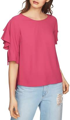 1 STATE 1.STATE Ruffle-Sleeve Top