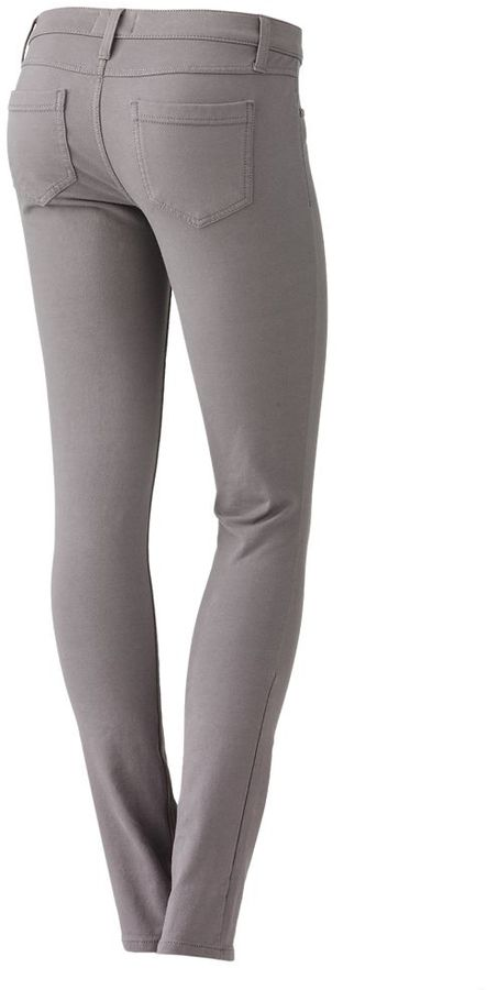 Mudd 5-pocket color skinny jeggings - juniors
