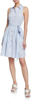 MICHAEL Michael Kors Striped Button-Down Shirtdress