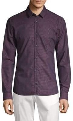 HUGO BOSS Ero Extra Slim Fit Geo Print Sport Shirt