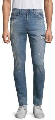 Joe's Jeans Five-Pocket Crane Distressed Skinny Fit Jeans