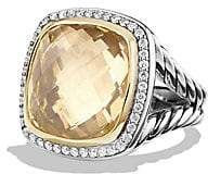 David Yurman Women's Albion Ring with Champagne Citrine, Diamonds and 18K Gold