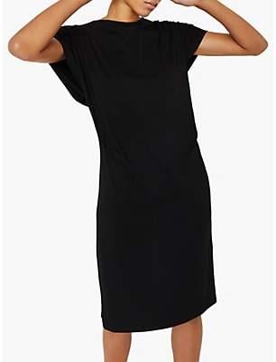 Warehouse Keyhole Back Dress, Black