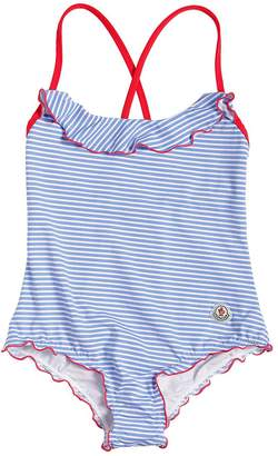 Moncler Striped Lycra One Piece Swimsuit