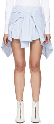 Alexander Wang Blue and White Striped Front Tie Skort