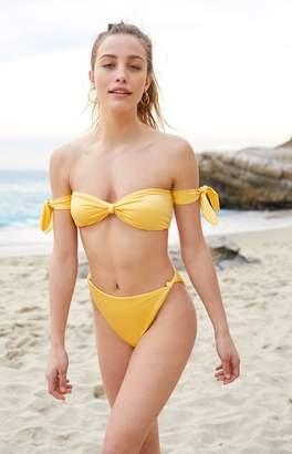 LA Hearts Off-The-Shoulder Knotted Bikini Top