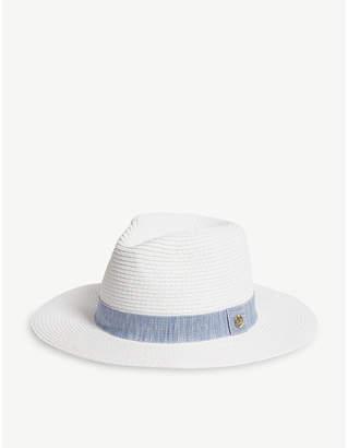 Melissa Odabash Wide-brim woven fedora hat