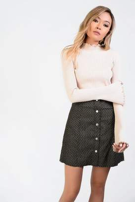 Glamorous **Button Front Corduroy Skirt by Tall