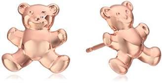 14k Italian Teddy Bear Stud Earrings