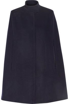 Stella McCartney - Anouk Wool-blend Cape - Midnight blue $1,445 thestylecure.com