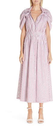 By Any Other Name Tab Sleeve Midi Shirtdress