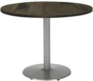 """LOFT KFI seating Urban 42"""" Round Top Table, Barnwood, Round Silver Base, 29"""" H"""