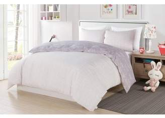 Duck River Malar Butterfly 3 Piece Full Comforter Set in Grey-White