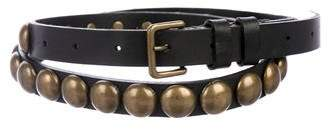 Ann Demeulemeester Embellished Leather Belt