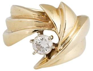 14k Yellow Gold Diamond Ladies Ring Size 5.5