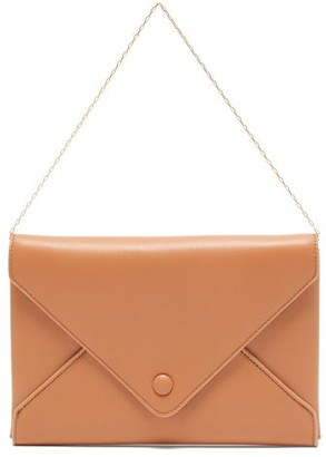 The Row Envelope Leather Clutch - Womens - Coral