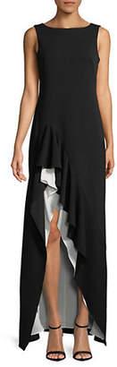 Calvin Klein Sleeveless Jersey Asymmetric Gown