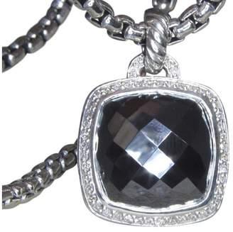 David Yurman Albion Sterling Silver Hematine Diamond Pendant