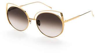 Cat Eye Sunday Somewhere Daisy Cat-Eye Titanium Sunglasses