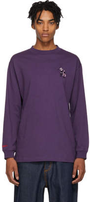 Carne Bollente Purple Attaches Moi Si Tu Peux Long Sleeve T-Shirt