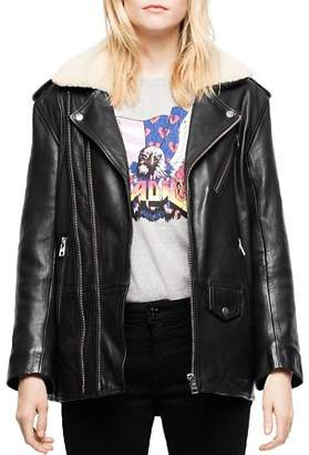 Zadig & Voltaire Leen Leather Moto Jacket