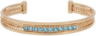 Imperial Gold & Gemstone Large Cuff Bracelet, 14K Gold