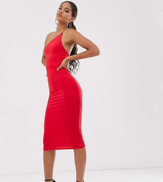 Asos Tall DESIGN Tall Exclusive going out one shoulder bodycon midi dress