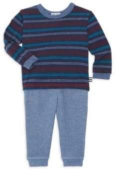 Splendid (スプレンディッド) - Splendid Splendid Baby Boy's Striped Long-Sleeve& Sweatpants Set - True Navy - Size 3-6 Months