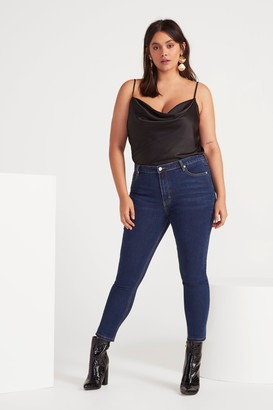 Nasty Gal Womens Susie High-Wasited Skinny Jeans - Blue - 4