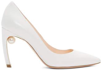 Nicholas Kirkwood White Mira Pearl Heels
