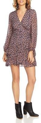 1 STATE 1.STATE Ditsy Drift Ruffled Wrap Dress