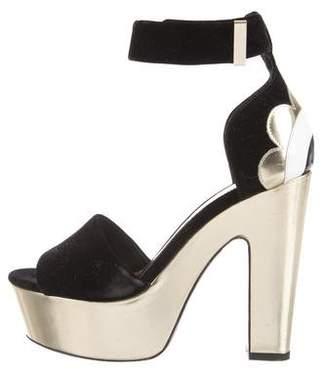 Nicholas Kirkwood Velvet Platform Sandals
