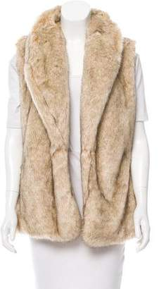 Sanctuary Faux Fur Shawl-Collar Vest w/ Tags