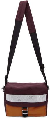Acne Studios Burgundy Bla Konst Contrast Bag