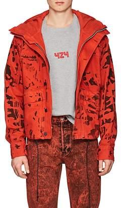 424 Men's Camouflage Cotton Denim Crop Anorak
