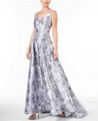 Calvin Klein Floral-Print Gown