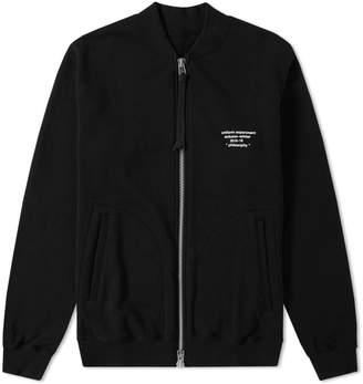 Uniform Experiment Zip Sweat Bomber Jacket
