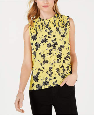 Maison Jules Georgette-Print Sleeveless Top