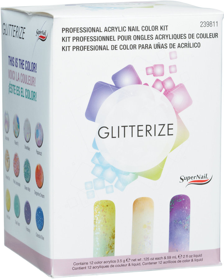 SuperNail Glitterize Professional Acrylic Nail Color Kit