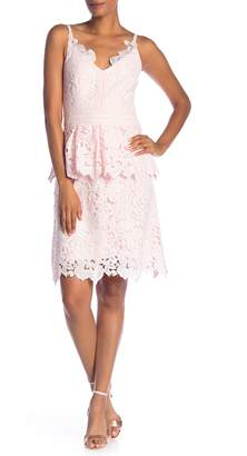 Ted Baker Lace Detail Peplum Dress