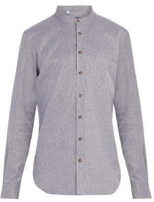 Thom Sweeney - Nehru Collarless Woven Cotton Shirt - Mens - Grey