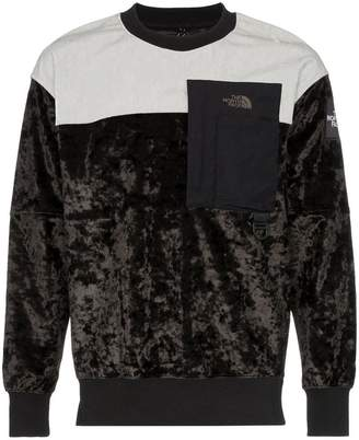 The North Face Black Label Crew neck crushed velvet sweatshirt