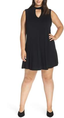 Esperanza Lemon Tart Neck Keyhole Skater Dress